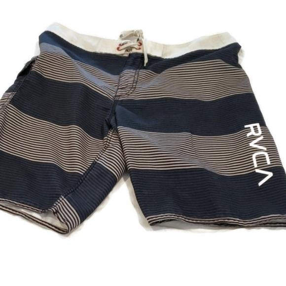 RVCA Other - RVCA Mens Board Shorts Striped 32 EUC